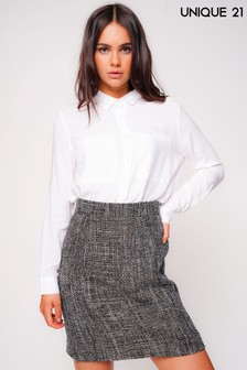 Unique Tweed Mini Skirt