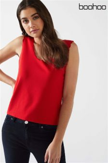 Boohoo Scalloped Vest