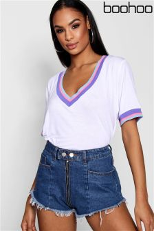 Boohoo Stripe Detail T-Shirt