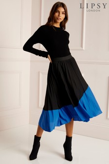 Lipsy Colourblock Pleated Skirt