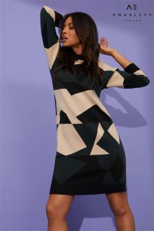 Angeleye Graphic Print Loose Fit Jumper Dress