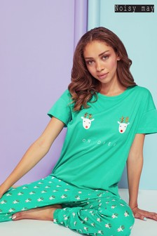 Noisy May Christmas Short Sleeve Pajama Top