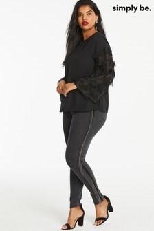 Simply Be Chloe High Waist Tassel Detail Skinny Jeans