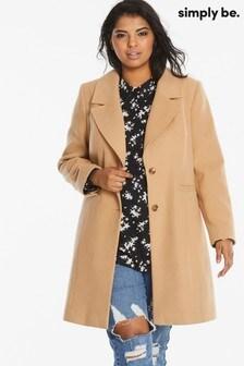 Simply Be Smart Crombie Coat
