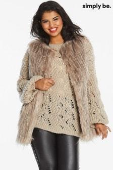 Simply Be Fur Gilet