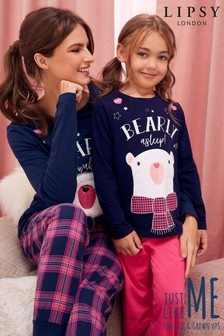 Lipsy Girl Bearly Asleep PJ Set