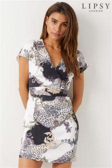 Lipsy Gabriella Print Kimono Dress