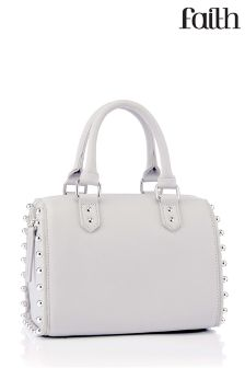 Faith Studded Bowler Bag