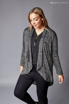 Mela London Curve Knitted Waterfall Cardigan