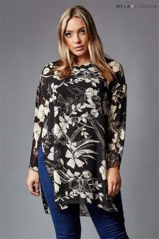 Mela London Curve Floral Tunic Top
