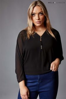 Mela London Curve Batwing Blouse