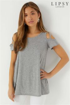 Lipsy Lattice Shoulder T-Shirt