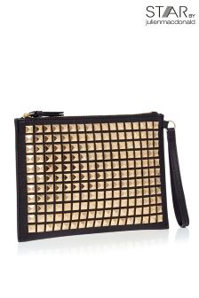 Star By Julien Macdonald Pyramid Stud Clutch Bag