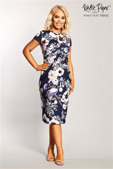 Want That Trend Maternity Floral Midi Dress