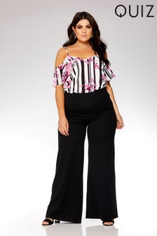 Quiz Curve Crepe High Waisted Palazzo Trousers