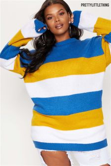 Pull long PrettyLittleThing Curve style colorblock