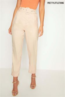 PrettyLittleThing Self Belt Formal Trousers