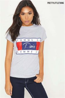 PrettyLittleThing Comme Ci Print T-Shirt