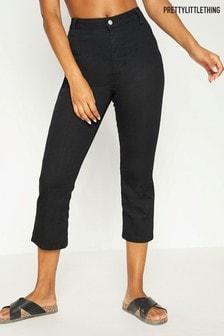 PrettyLittleThing Vorgewaschene Mom-Jeans mit Ziernähten