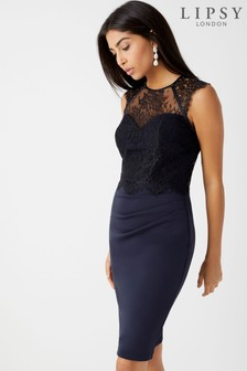 Lipsy 2 in 1 Lace Shelf Dress