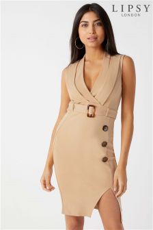 Lipsy Horn Belt Bodycon Dress