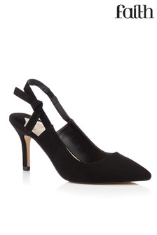 Faith Shoes Slingback Kitten Heel Court
