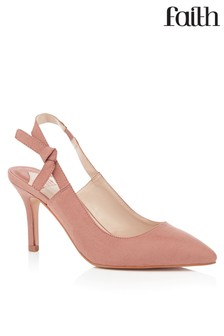 Faith Slingback Kitten Heel Court Shoes