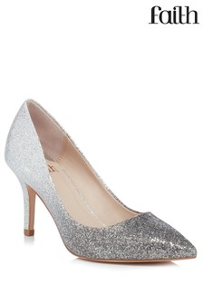 Faith Glitter Kitten Heel Courts