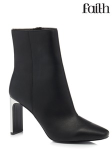 Faith Mirror Heel Ankle Boots