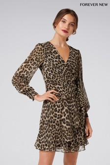 Forever New Animal Jacquard Dress