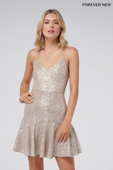 Forever New Sequin Skater Dress