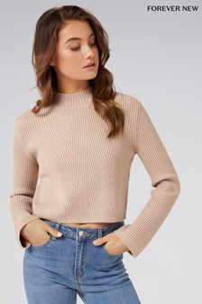 Forever New Crop Rib Jumper