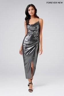 Forever New Cowl Neck Midi Dress