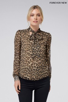 Forever New Animal Print Blouse
