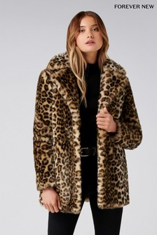 Forever New Leopard Coat