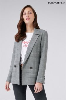 Forever New Check Blazer
