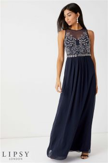 Lipsy Angelina Sequin Artwork Maxi Dress