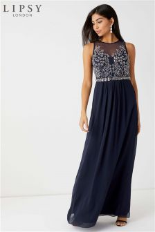 Lipsy Petite Angelina Sequin Artwork Maxi Dress