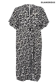 Glamorous Curve Print Maxi Dress