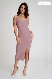 The Girlcode Bardot Bandage Midi Dress