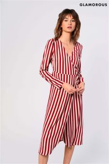 Glamorous Stripe Wrap Dress