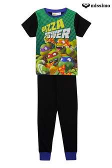 Missimo Nighwear Ninja Turtle Short Sleeve Long Leg PJ Set