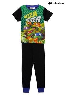 Пижамный комплект с короткими рукавами и принтом черепашек ниндзя Missimo Nighwear
