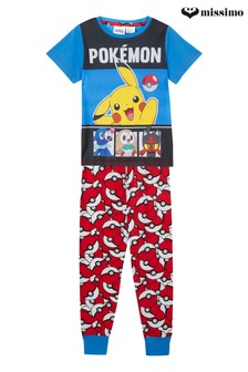 Missimo Nightwear Pokemon T-Shirt and Long Leg PJ Set