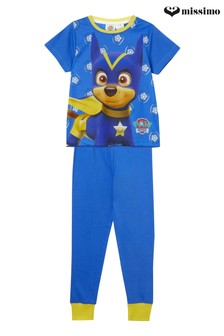 Missimo Nightwear Paw Patrol Chase T-Shirt and Long Leg PJ Set