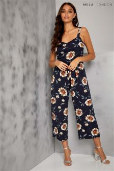 Mela London Floral Cullotte Jumpsuit