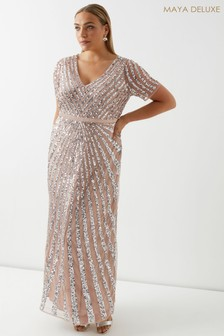 Maya Sequin Maxi Dress