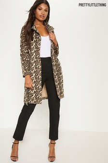 PrettyLittleThing Leopard Print Jacket