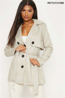 PrettyLittleThing Short Trench Jacket