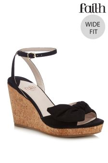 Faith Wide Fit Heeled Sandal